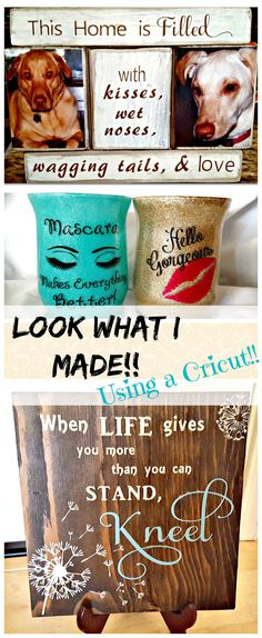 Look at the type of projects you can make with a Cricut Explore!!  I love making DIY Cricut home decor projects!!