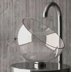 Glass Design Moon Above Counter Bath Sink. Glass Design is an Italian excellence in the production and design of modern and trend bathroom sinks. Lavabo Design, Verre Design, Unusual Bathrooms, Amazing Bathrooms, Bathroom Sink Design, Modern Bathroom, Bathroom Sinks, Bathroom Gadgets, Glass Basin