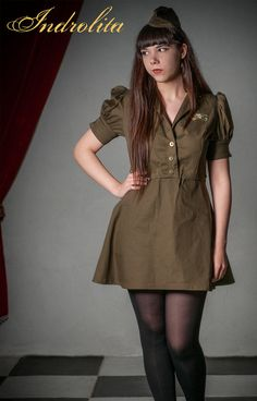 Steampunk Military Dress by IndrolitaClothing on Etsy
