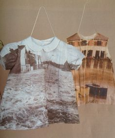 Shelly Goldsmith  Heated transfer images on 1950's dresses  From children's home in Cincinnati