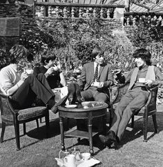 Mick Jagger, Keith Richards, Brian Jones, Mick Taylor, august 1964