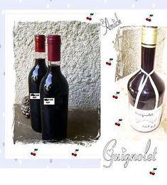 Guignolet maison (Pour 1 litre : 55 feuilles de guignier, 34 morceaux de sucre, 62,5 ml d'eau de vie à 90°, 1 litre de vin rouge à 13°) La cueillette des feuilles doit être effectuée après celle des cerises.