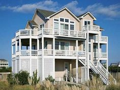 <B>OCEANVIEW Rodanthe - Mirlo Beach Located on the soundside of Hwy 12, </b> just one lot back from the ocean with easy beach access and four levels of decks with ample wooden deck furniture. Set sail for your Hatteras Island vacation at SKIPPER'S GIG.