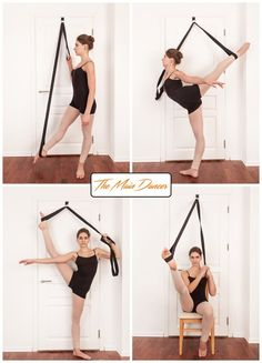 Stretch Band Home Stretch Ballet Equipment Dance Gymnastic Exercise Kickboxing Stretch Leg Door Strap Ballet Dance Flexibility Best Leg Stretches, Dancer Stretches, Leg Stretching, Yoga Exercises, Stretching For Dancers, Middle Splits Stretches, Dancer Leg Workouts, Slider Exercises, Scoliosis Exercises