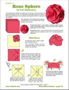 Oriland Store: Origami eBooks: Kusudama Garden