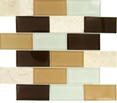 """Buy 12 in. x 12 in. Broadway Desert Mirage Subway Mesh-Mounted Glass Mosaic Tiles - SMOT-GLSST-DM8MM at marble n things 2"""" x 4"""", Bathroom Wa..."""