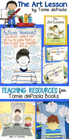 Hands-on reading and writing activities and teaching resources for The Art Lesson by Tomie dePaola. Part of a best selling Tomie dePaola author study for 1st, 2nd, and 3rd grade.