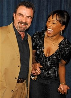 March 25, 2007 Tom Selleck and Angela Bassett during 'Meet The Robinsons' Los Angeles Premiere - Red Carpet at El Capitan Theatre in Hollywood, California, United States.