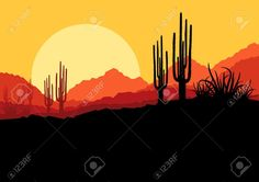 18581148-Desert-wild-nature-landscape-with-cactus-and-palm-tree-plants--Stock-Photo.jpg (1300×919)
