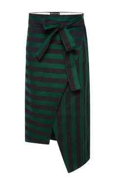 Bi-Color Striped Ottoman Skirt by Rochas | Moda Operandi