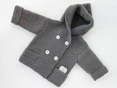 MADE TO ORDER/ Hand knitted baby sweater with by LuckyKnitWear