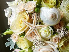Seashell & flower bouquet