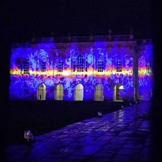 From our friends at Cambridge  @cambridgecolleges - One of the many different guises of Senate house last night during the @eluminatecambridge #lovelight2017 display #goviewyou