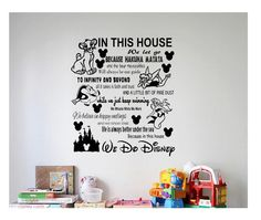 Disney Wall Quote decal Sign 3 Vinyl Decal Sticker love disney mickey minnie disney land disney world living room home castle family rules by ColtonsPlace on Etsy https://www.etsy.com/listing/473136161/disney-wall-quote-decal-sign-3-vinyl