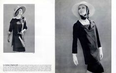 1962 - Yves Saint Laurent afternoon ensemble by Philippe Pottier