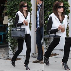 Look For Less: Emma Watson's Fab Faux-Fur In The Bling Ring