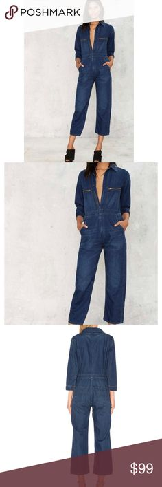 Citizens of humanity jeans jumpsuit New without tags: A brand-new, unused,  and unworn item. The original tags may not be attached. **nasty gal item refer to site for sizing guide**  NO Trades   NO Holds (whoever first come to buy unless note otherwise) Nasty Gal Pants Jumpsuits & Rompers