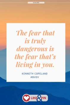Don't allow fear in your life. #NoFear #BVOV