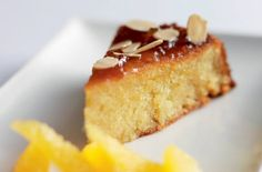 Michel Roux Jr.'s almond and orange cake. Made this and it's gorgeous! I didn't have enough ground almonds but made it up with flour, and it still worked.