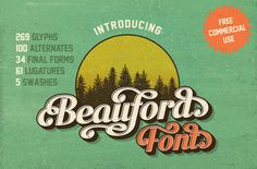 Beauford Font {Free Commercial Use} by Annenkov Dmitriy on Creative Market