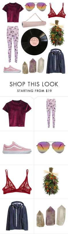 """""""we're just running"""" by llamapoop ❤ liked on Polyvore featuring Boohoo, Vans, Victoria Beckham, Calvin Klein Underwear and H&M"""