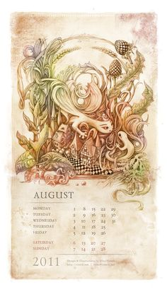Saurians Renaissance (Calendar by Irina Vinnik, via Behance Meditation Art, World Of Fantasy, Calendar Design, Modern Artists, Art And Illustration, Design Art, Design Ideas, Graphic Design, Renaissance