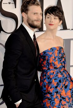 Jamie and his wife Amelia at the Premiere Fifty Shades Of Grey in London.  2/12/2015