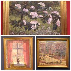 """Alhed Larsen gift med Johannes Larsen havde mange skønne malerier på Ordrupgård Kunstmuseum udstillingen """"Et hjem i naturen""""."""
