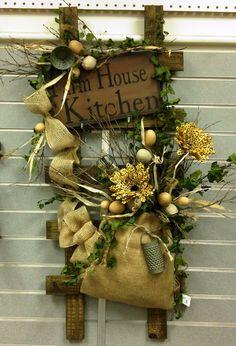 Gorgeous Kitchen Ladder Arrangement made by Barbara!