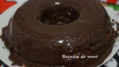Bolo de chocolate de liquidificador fofinho