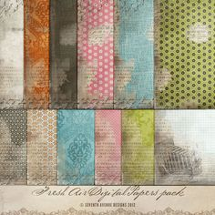 Digital Papers  Fresh Air Perfect for blog by 7thavenuedesigns, $8.00