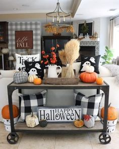 DIY Indoor Halloween Decor Ideas to Welcome Spooky Vibes in your Home - Hike n Dip Looking for DIY Indoor Halloween Decor Ideas? Here you'll find some of the Best & incredibly unique Halloween Indoor Decoration Ideas. Check them out now. Halloween Living Room, Casa Halloween, Halloween Party, Halloween Entryway, Halloween Kitchen Decor, Halloween Stuff, Halloween Season, Halloween Halloween, Living Room Ideas For Fall