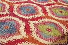 Colorful Ikat fabric