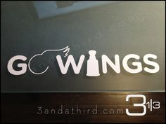 For all the Detroit Red Wings fans out there,  super stylish  GO WINGS decal. $9.99, via Etsy.
