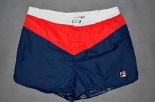 Vintage Fila Swimm Shorts Made in Italy 80's Size M US 34