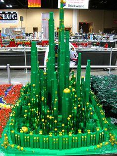 Huge Lego Wizard of Oz Build Includes a Motorized Tornado
