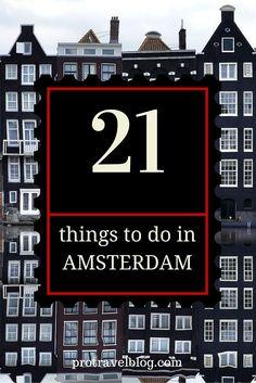 must see things in Amsterdam