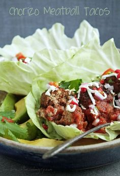 Chorizo Meatball Tacos - Low Carb and Gluten Free!