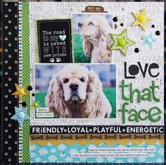 Bella Blvd Rover collection. Love That Face layout by creative team member Laura Vegas.