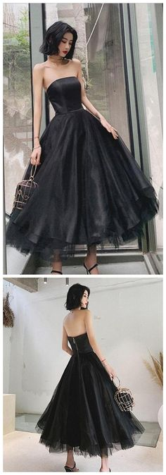 ELEGANT BLACK TULLE SHORT PROM DRESS, BLACK EVENING DRES,AE662 by Sfaivodresses, $139.68 USD Classy Prom Dresses, Black Prom Dresses, A Line Prom Dresses, Sexy Dresses, Party Dresses, Dress Black, Evening Dresses, Fashion Dresses, Formal Dresses