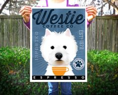 West Highland Terrier Westie Coffee Company original graphic