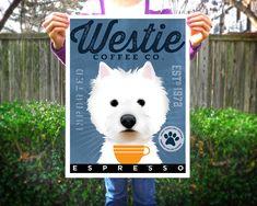 West Highland Terrier Westie Coffee Company original graphic