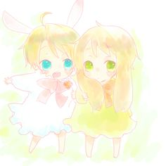 Bunny America and Bunny England // Hetalia