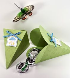 Welcome Baby Petal Cone Favor Box by ScrapsNCraftsOfLife on Etsy, $3.75