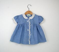 Vintage Baby Dress in Blue with Lace   All Sweetness and Light.......