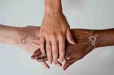 set of three ampersand bracelets by makepienotwar on Etsy
