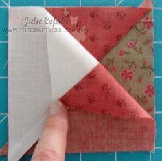 """I'm back with a tutorial on how to make quarter-square triangle units. I used them in Block 1 of the """"Paris In The Fall"""" BOM post from a few days ago. In today's tutorial, I have made them into an … Continue reading →"""