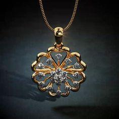 New Gold Jewellery Designs, 18k Gold Jewelry, Diamond Jewelry, Diamond Earrings, Jewelry Design, Stud Earrings, Diamond Pendant, Gold Pendant, Earrings Online