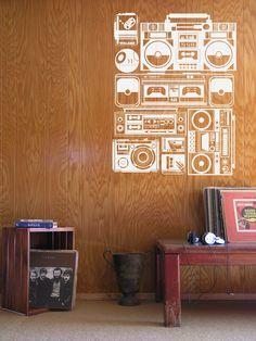 radio wall sticker.