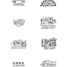 Address Stamp hand lettered rubber stamps from pennsylvania